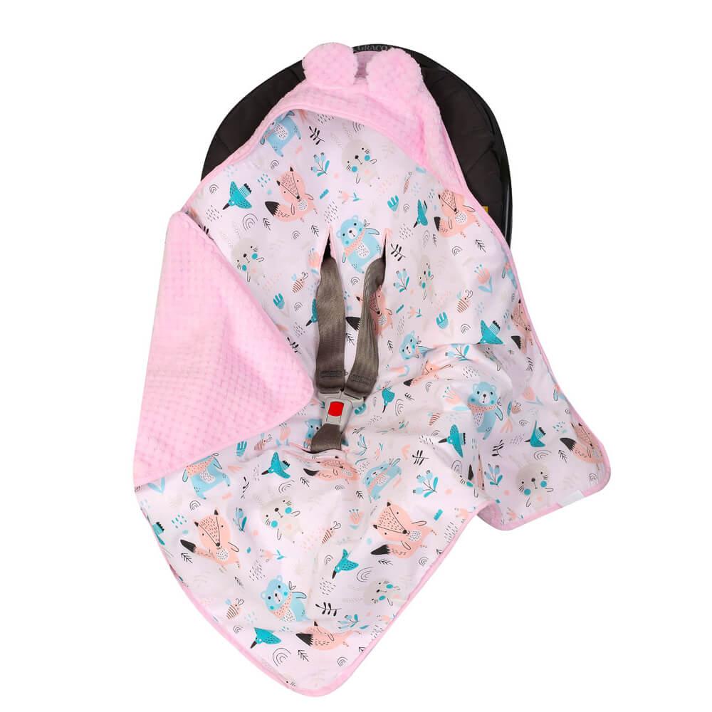 Κουβέρτα αυτοκινήτου Pink Forest, duet baby