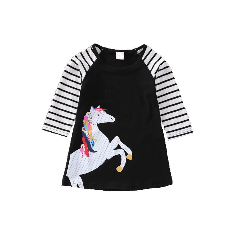 Φόρεμα μαύρο unicorn
