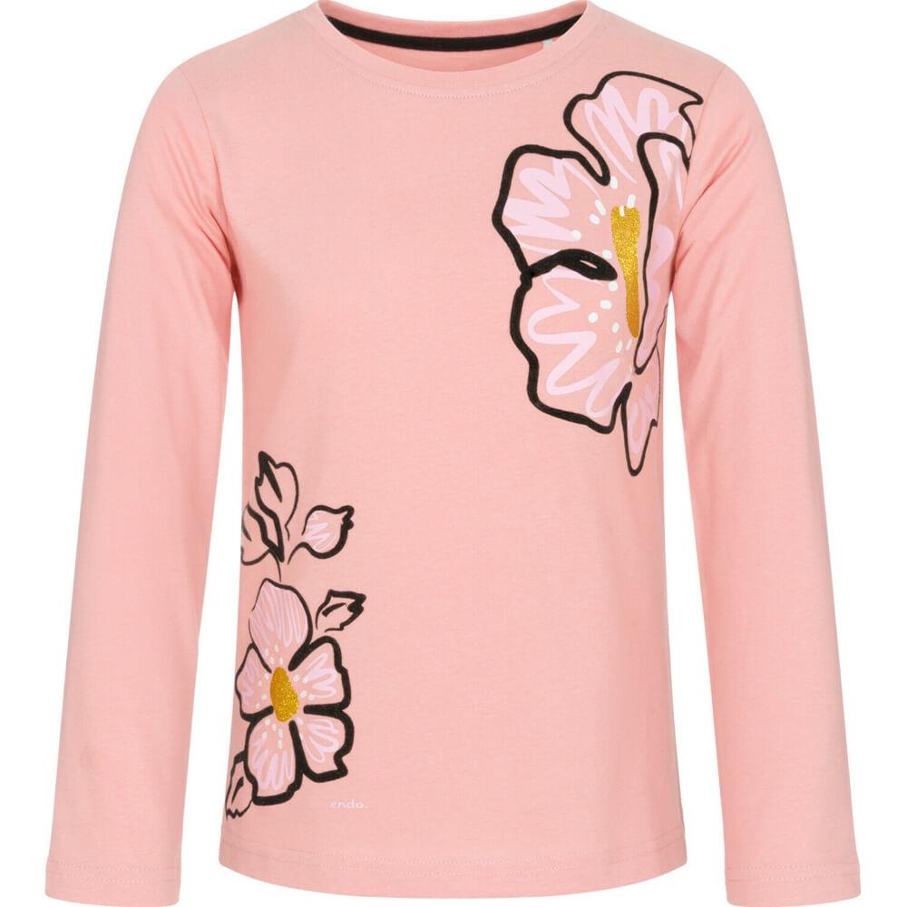 Μπλούζα σομόν, flowers