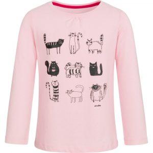 Μπλούζα ροζ, γατούλες