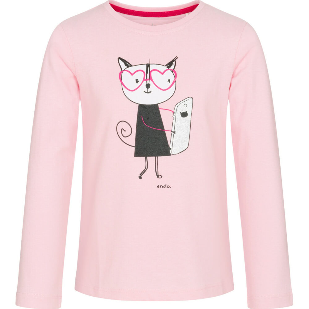 Μπλούζα pink selfie cat