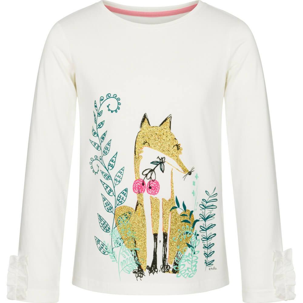 Μπλούζα λευκή glitter fox