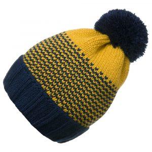 Σκουφάκι πλεκτό κίτρινο-μπλε