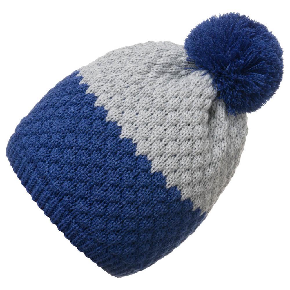 Σκουφάκι πλεκτό γκρι-μπλε