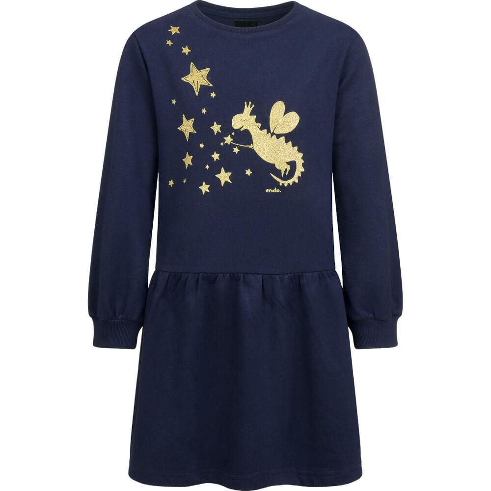 Φόρεμα μπλε glitter dinosaur