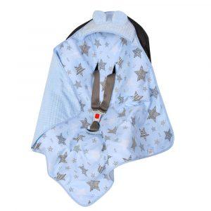 Κουβέρτα αυτοκινήτου Blue Stars, duet baby