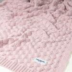 Κουβέρτα πλεκτή bamboo Misty Pink, ColorStories