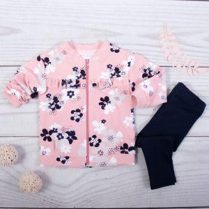 Σετ Φόρμες Baby Pink with Flowers