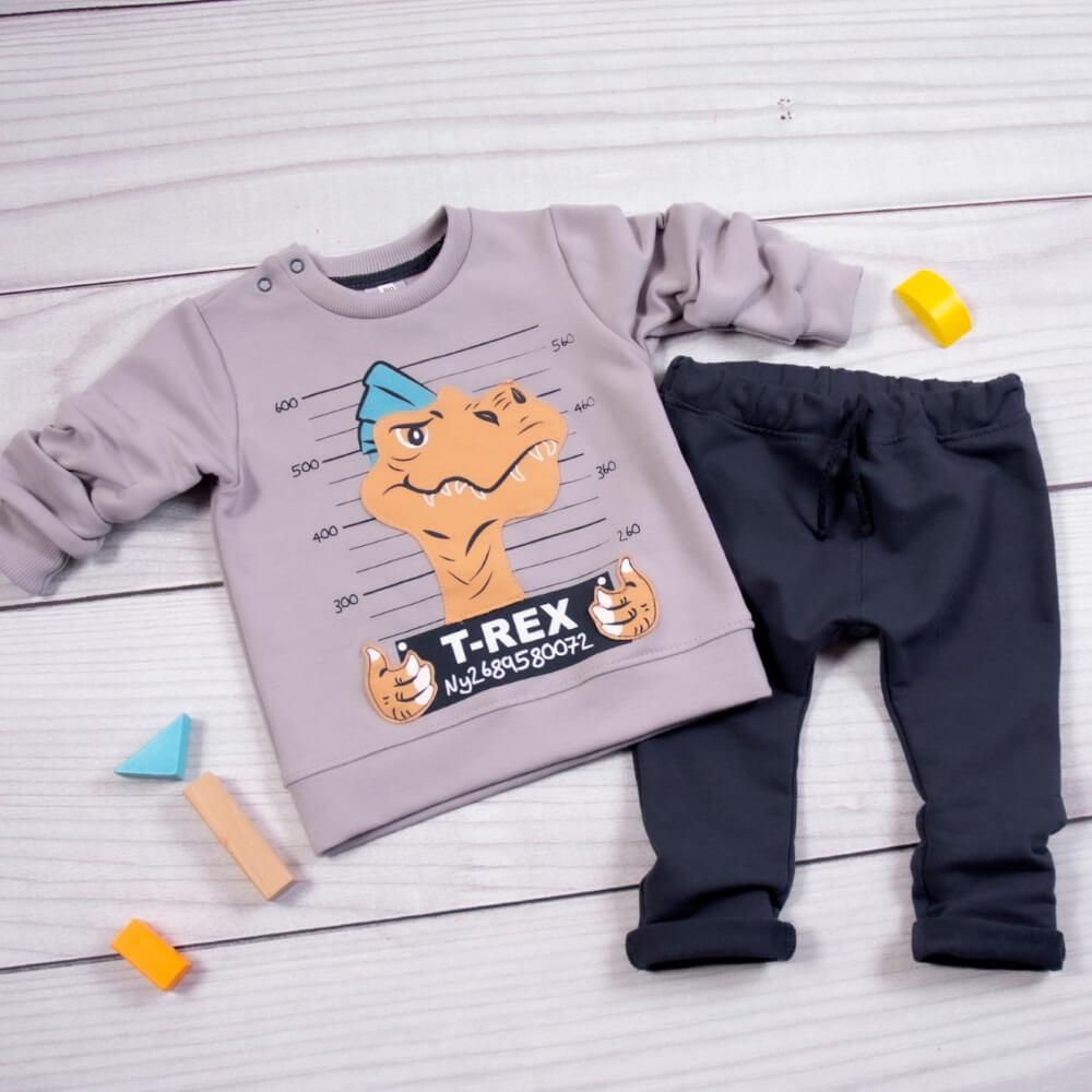 Σετ φόρμες T-Rex γκρι-μπλε
