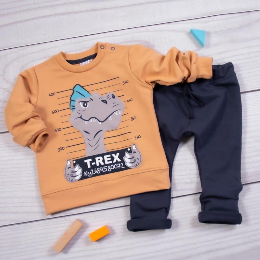 Σετ φόρμες T-Rex μπεζ-μπλε