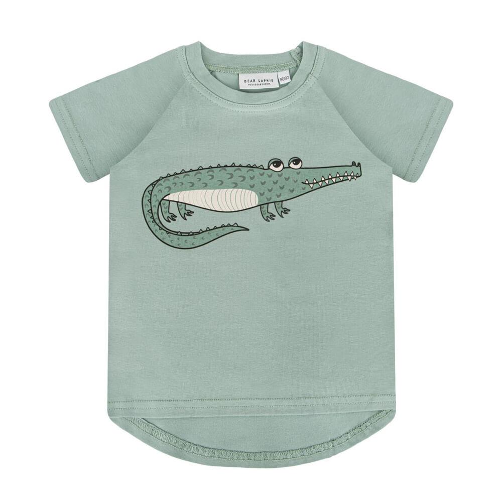 Κοντομάνικη μπλούζα Crocodile Mint