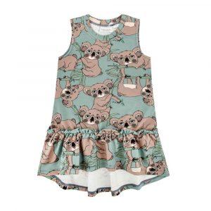 Αμάνικο φόρεμα Koala Sea-Green