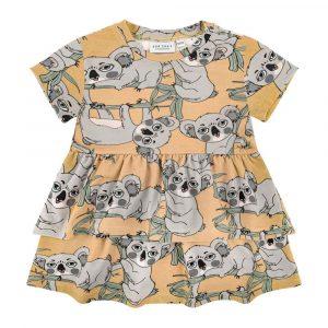 Κοντομάνικο μπλουζοφόρεμα Koala Yellow