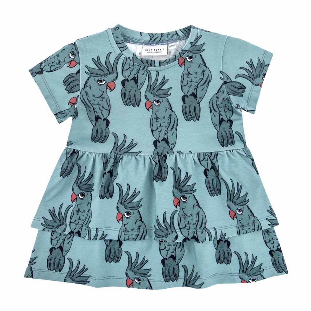 Κοντομάνικο φόρεμα Parrot Blue