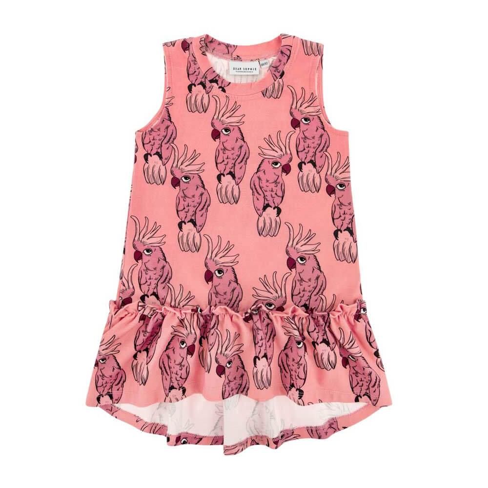 Αμάνικο φόρεμα Parrot Pink