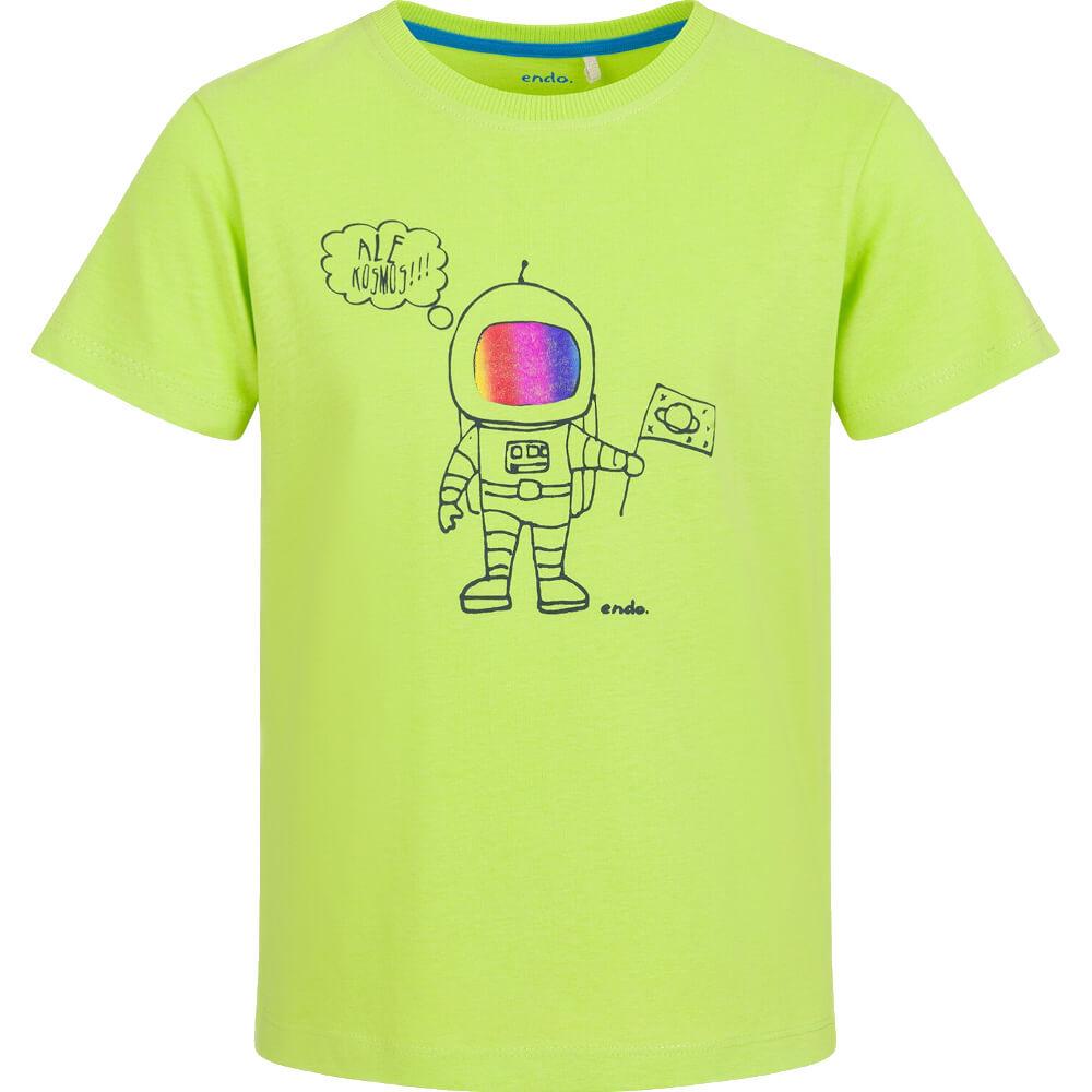 Κοντομάνικη μπλούζα λαχανί Astronaut