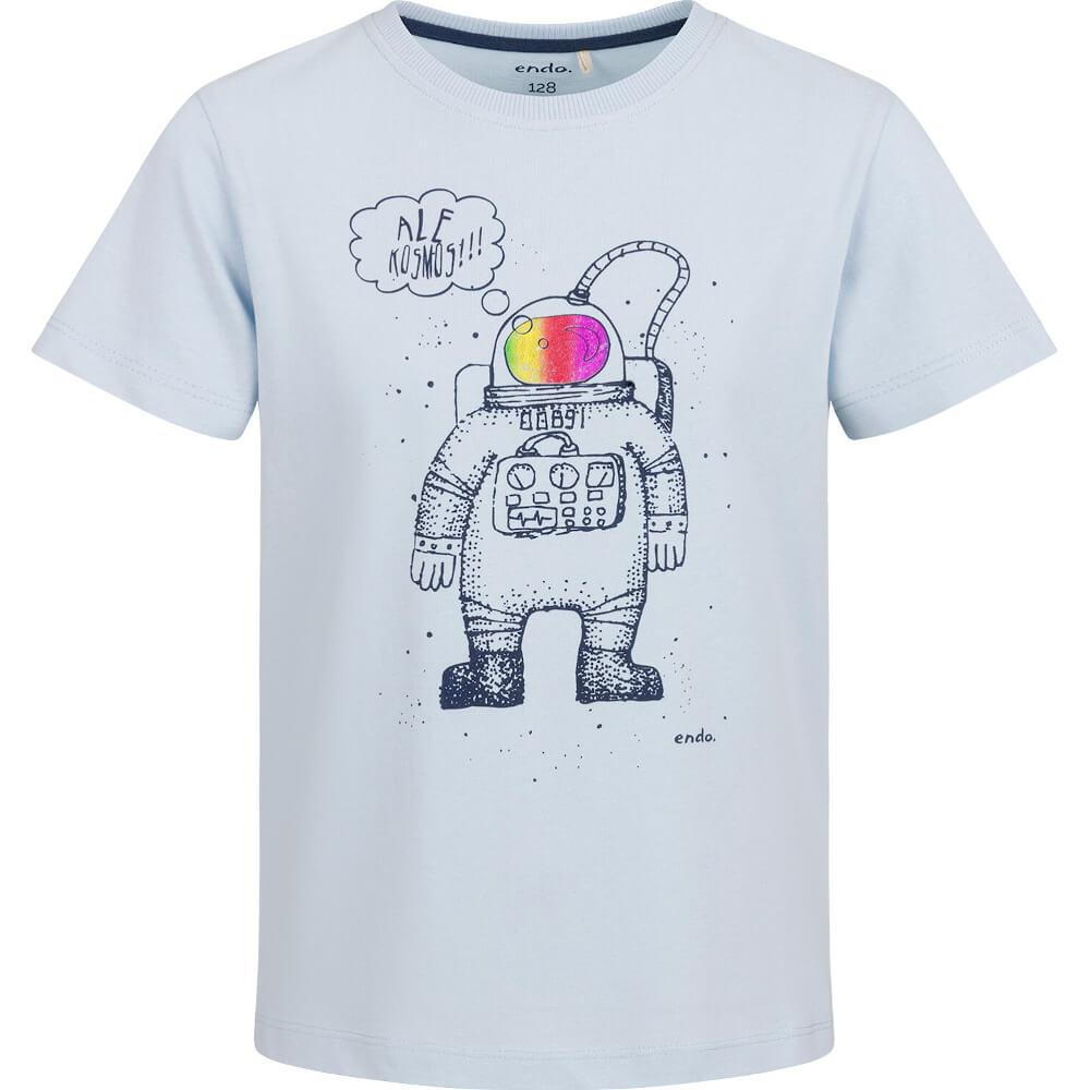 Κοντομάνικη μπλούζα γκρι Astronaut