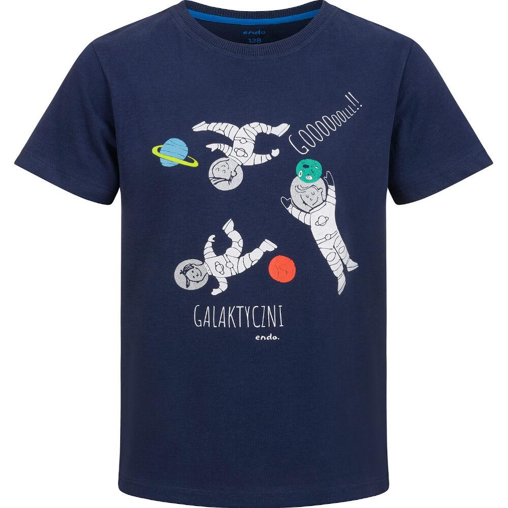 Κοντομάνικη μπλούζα μπλε Galaxy