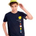 Κοντομάνικη μπλούζα μπλε Wi-Fi
