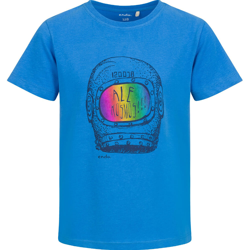 Κοντομάνικη μπλούζα μπλε Ale Kosmos