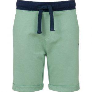 Βερμούδα πράσινο-μπλε με τσέπες