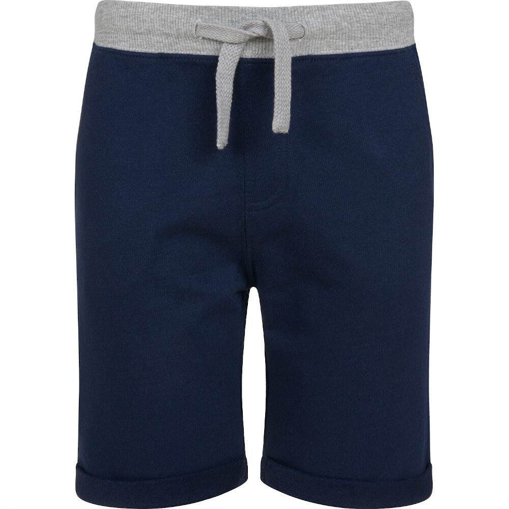 Βερμούδα μπλε-γκρι με τσέπες