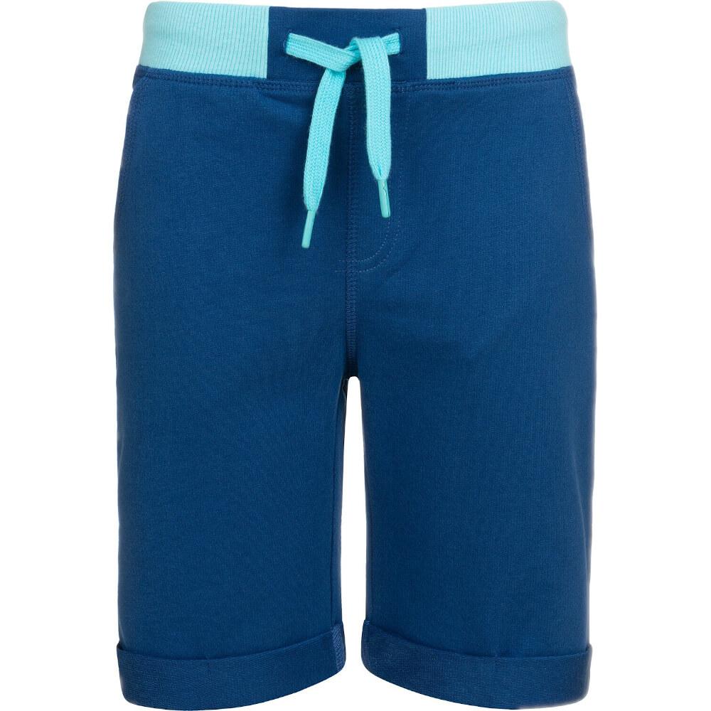 Βερμούδα μπλε-γαλάζιο με τσέπες