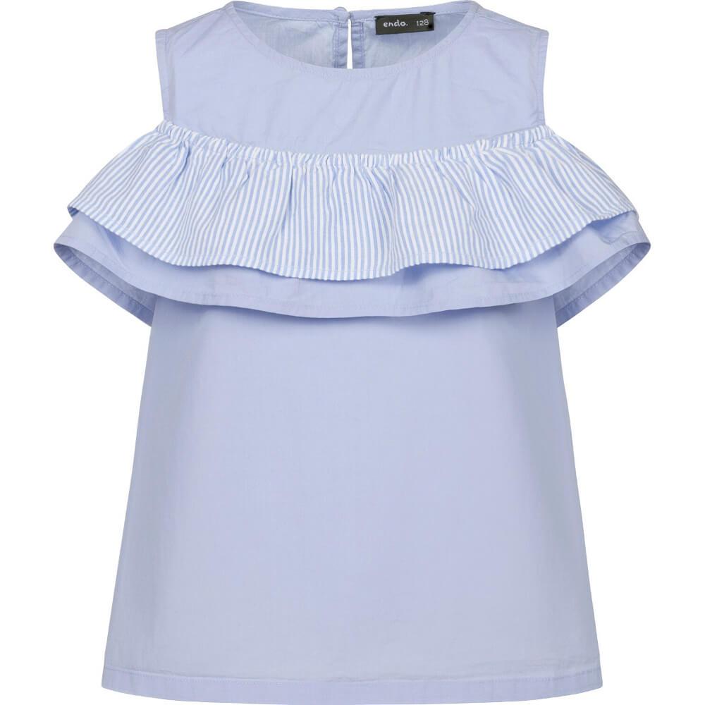 Κοντομάνικη μπλούζα γαλάζια