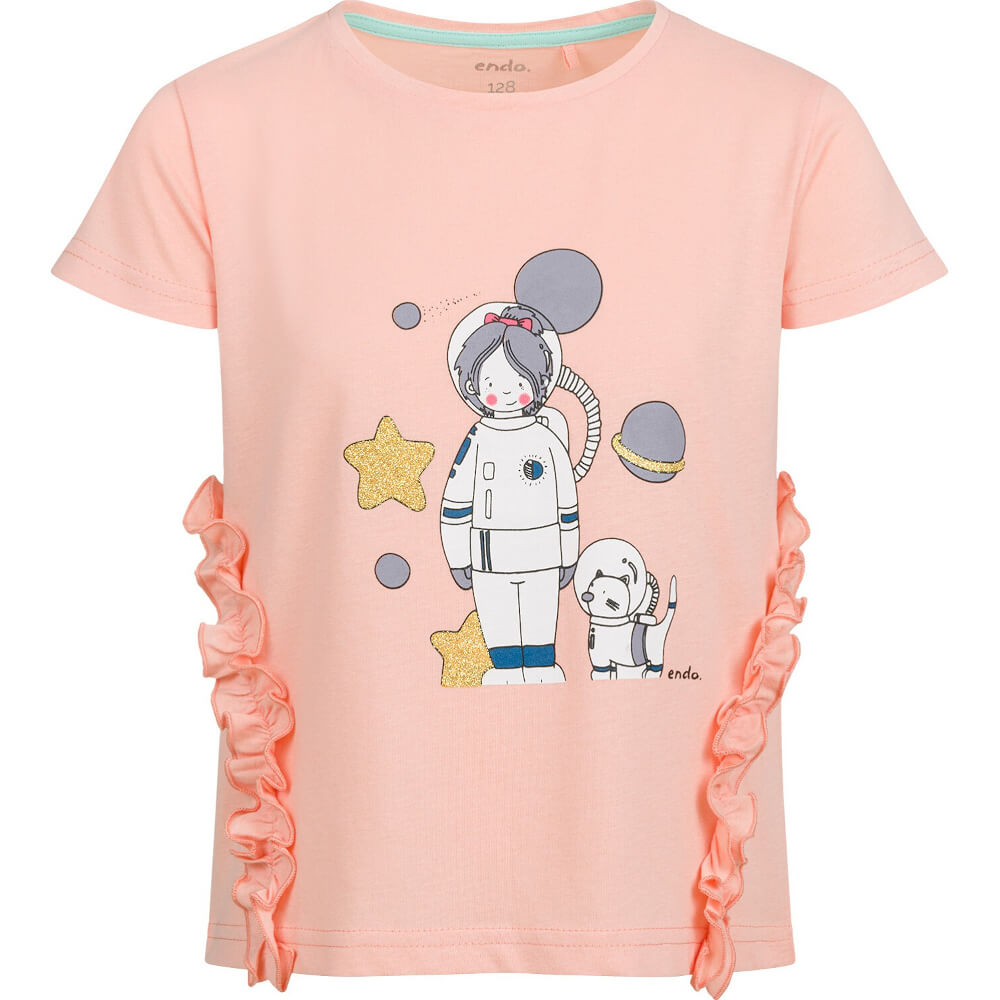 Κοντομάνικη μπλούζα σομόν Astronaut