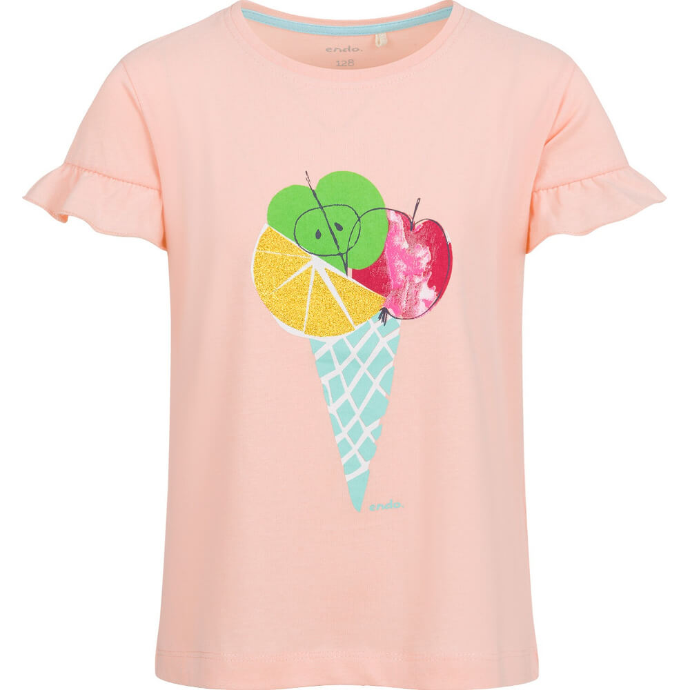 Κοντομάνικη μπλούζα σομόν Fruit Ice-cream