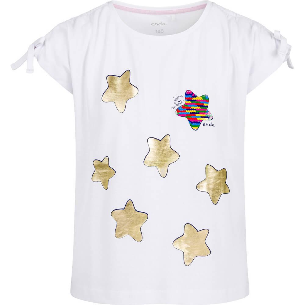 Κοντομάνικη μπλούζα λευκή Stars