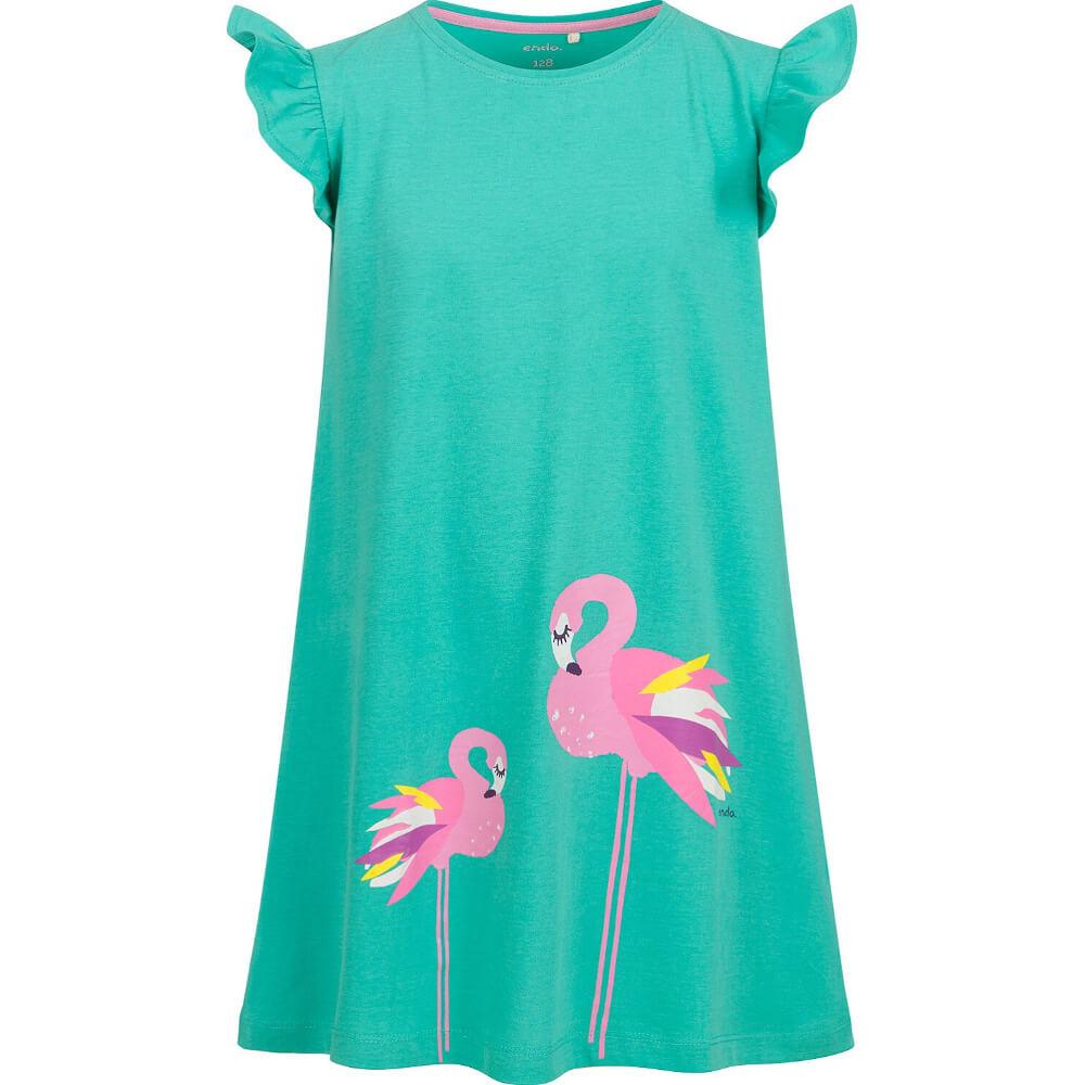 Κοντομάνικο φόρεμα Flamingos