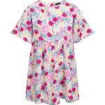 Κοντομάνικο φόρεμα Flowers Allover