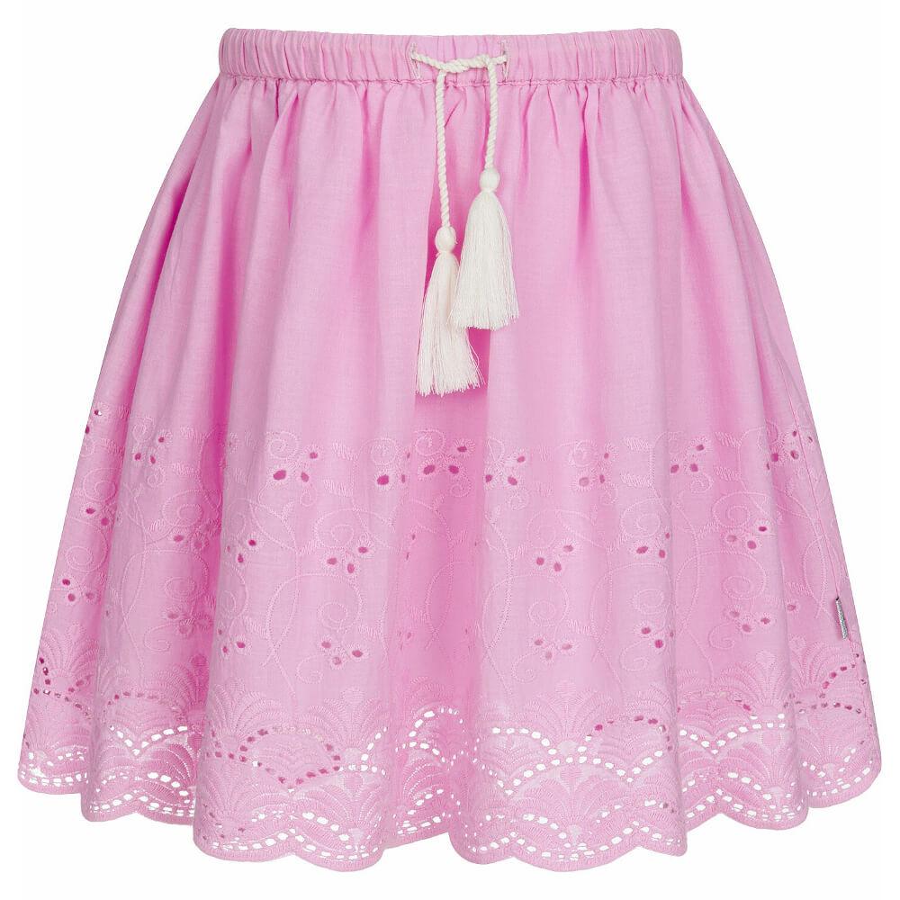 Φούστα ροζ με κεντήματα