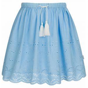 Φούστα γαλάζια με κεντήματα