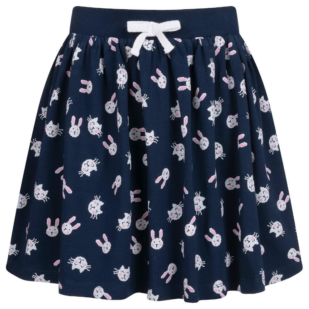 Φούστα μπλε με κουνελάκια και γατάκια