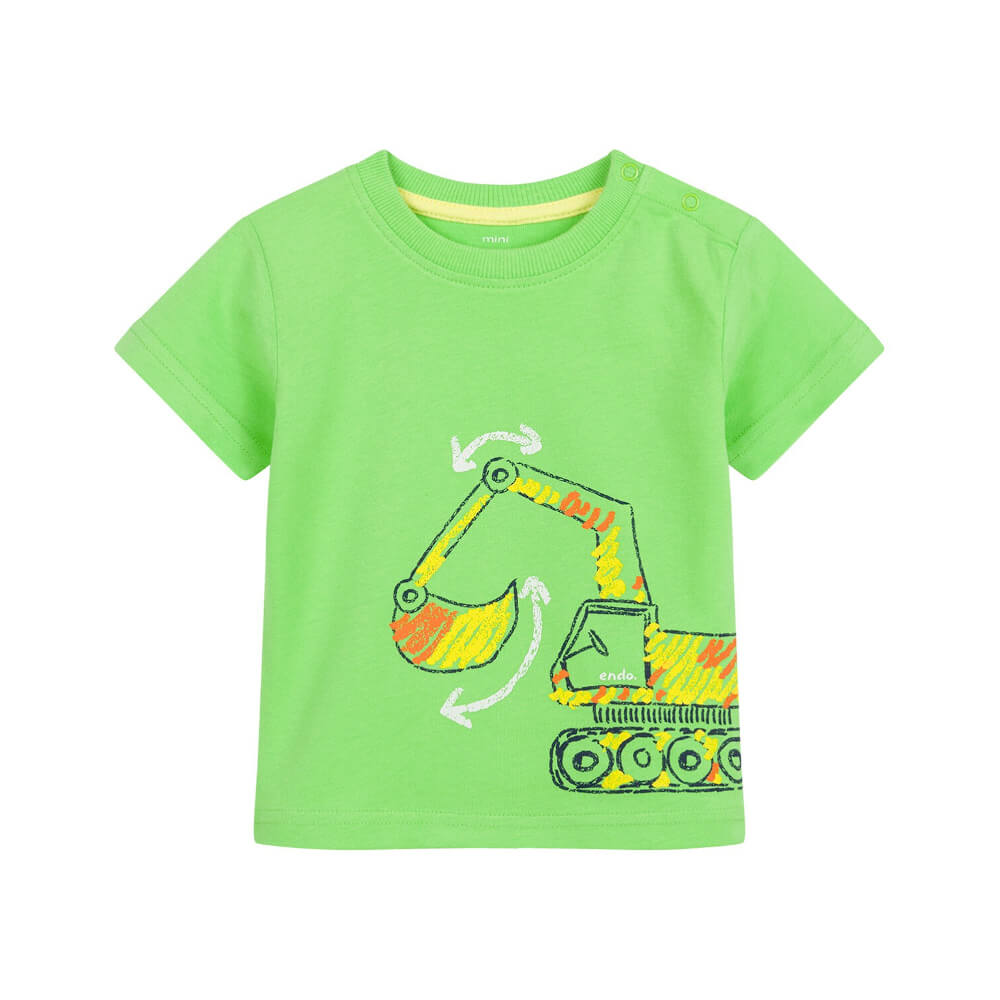 Κοντομάνικη μπλούζα λαχανί Εκσκαφέας