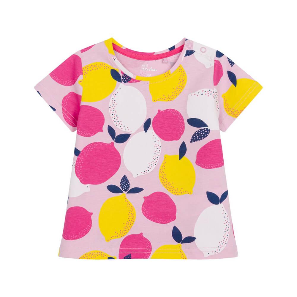 Κοντομάνικη μπλούζα ροζ Lemons