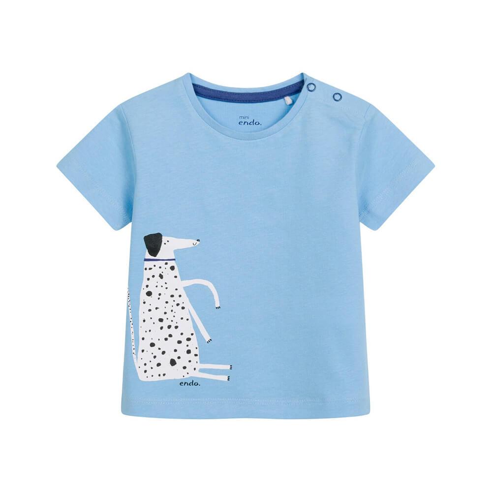 Κοντομάνικη μπλούζα γαλάζια Sitting Dog