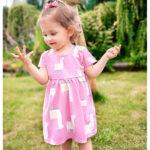 Κοντομάνικο φόρεμα Llama Allover