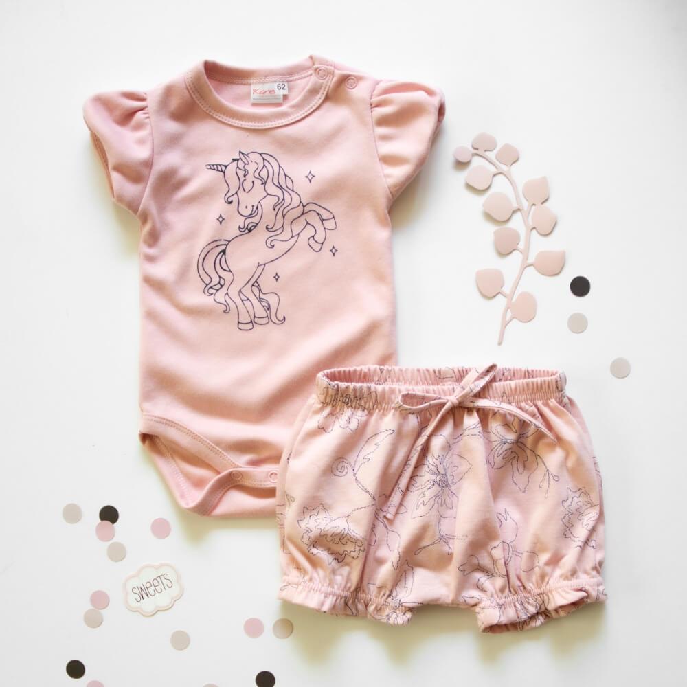 Κοντομάνικο σετ Pink Unicorn
