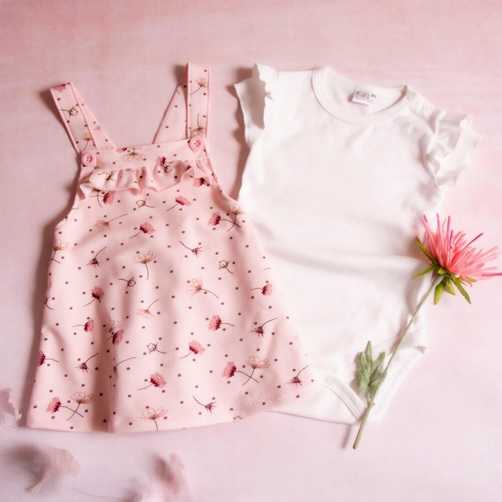 Κοντομάνικο σετ Pink Flowers