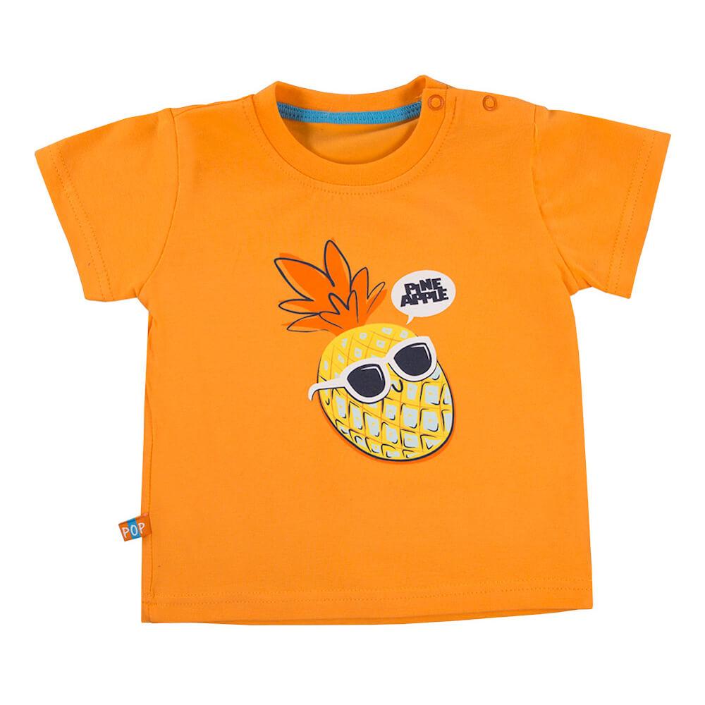 Κοντομάνικη μπλούζα πορτοκαλί Pineapple