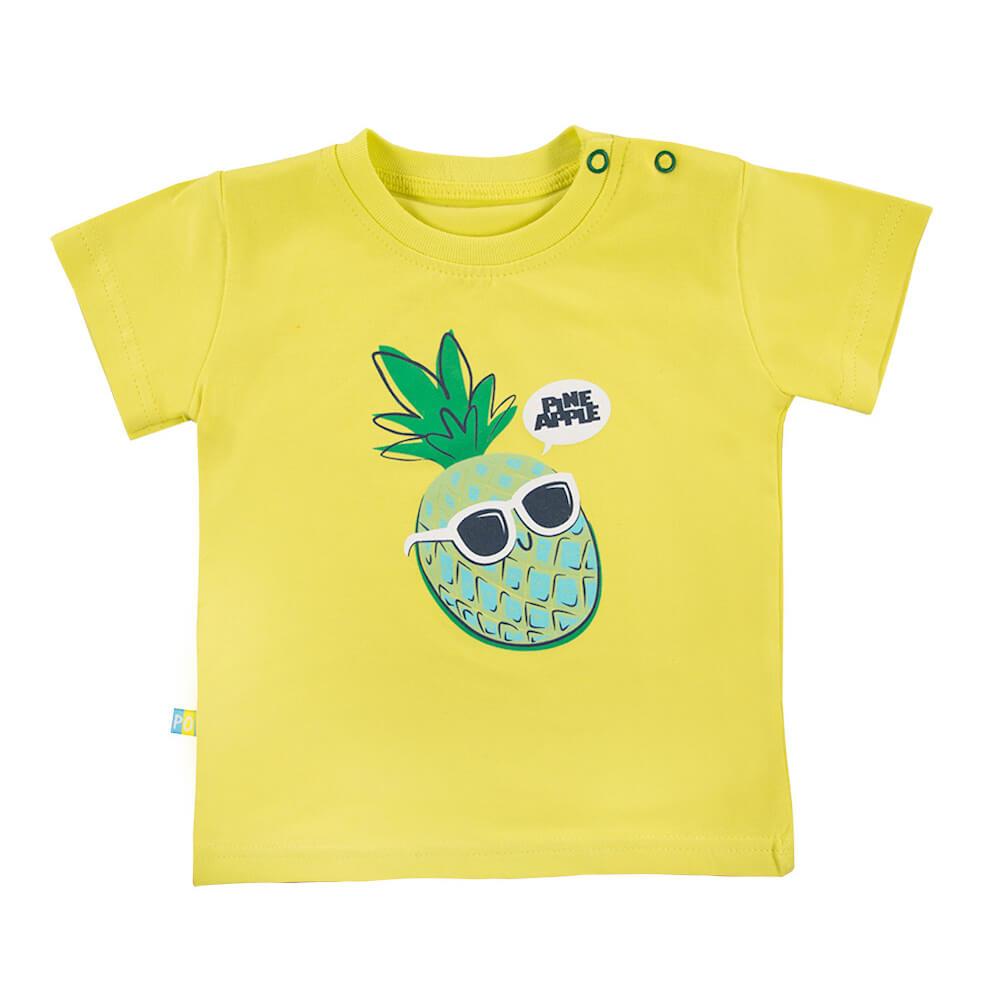 Κοντομάνικη μπλούζα κίτρινη Pineapple