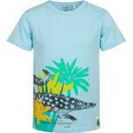 Κοντομάνικη μπλούζα γαλάζια Crocodile