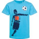 Κοντομάνικη μπλούζα τυρκουάζ ποδοσφαιριστής