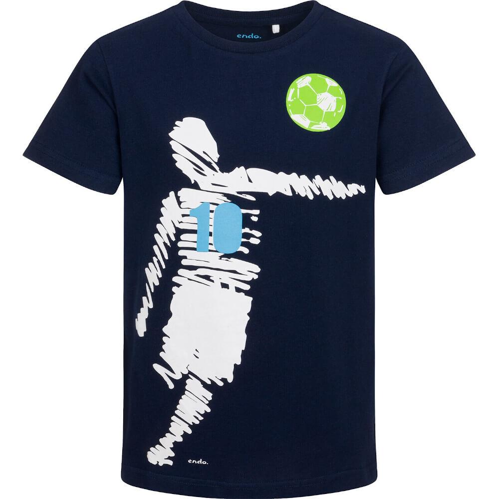 Κοντομάνικη μπλούζα μπλε ποδοσφαιριστής