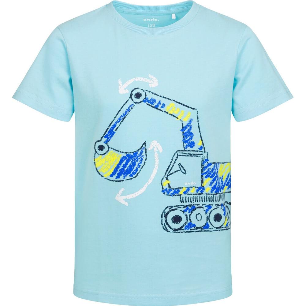 Κοντομάνικη μπλούζα γαλάζια Εκσκαφέας