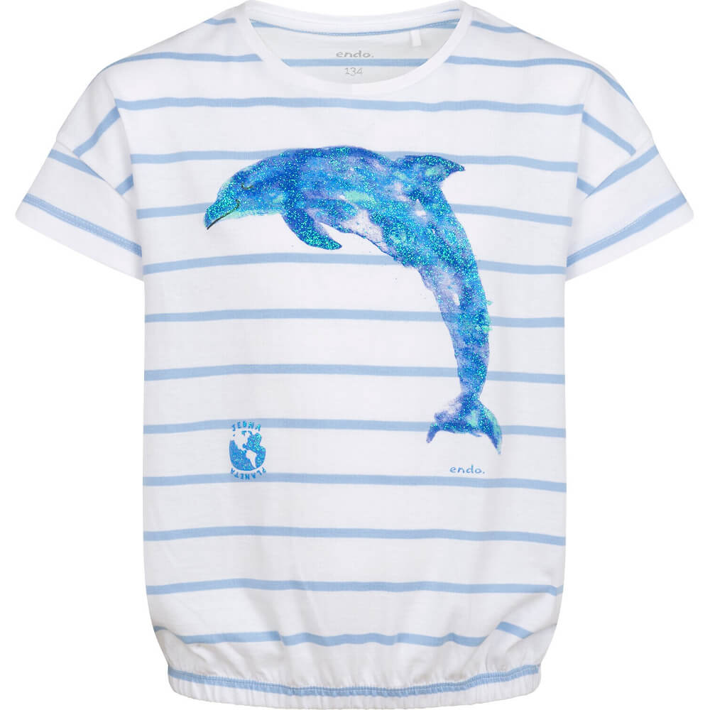 Κοντομάνικη μπλούζα ριγέ Dolphin