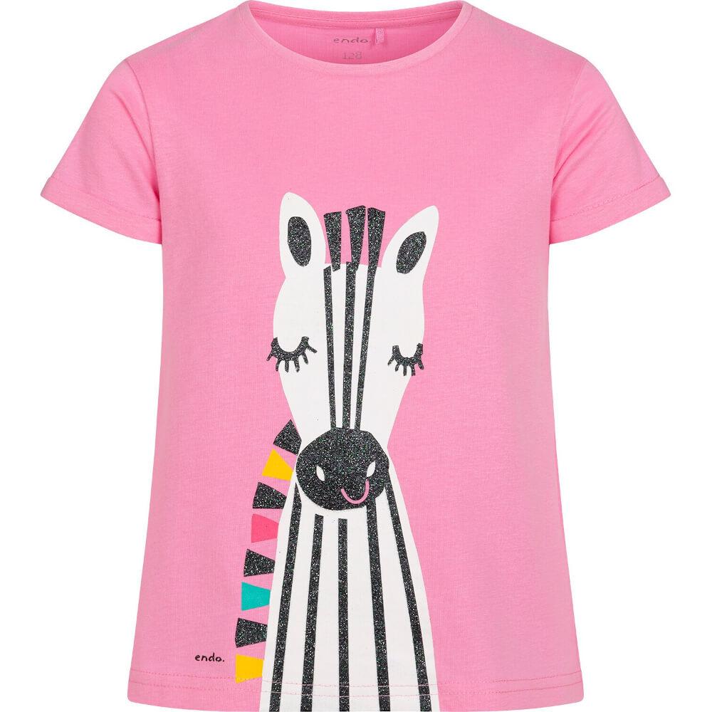 Κοντομάνικη μπλούζα ροζ Zebra
